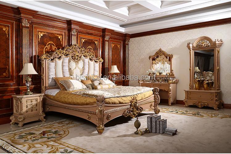 MOQ U003d 1 SET Ivoire Style Rocaille En Bois Lit King Size Royal Sculpté À La  Main Villa Meubles De Chambre À Coucher ...