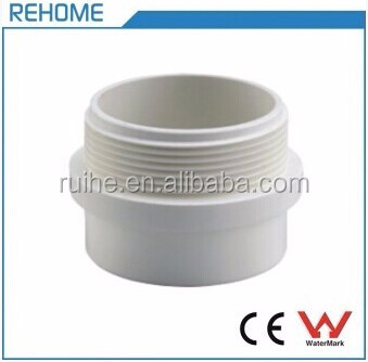 SCH40 UPVC Male Threaded Adaptor for Drain Water Pipe System ASTM