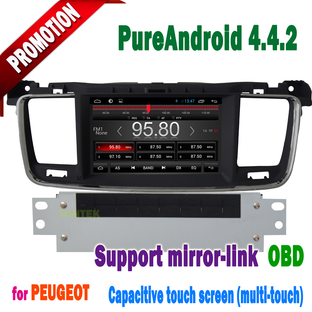 android 4 4 2 car dvd for peugeot 508 bluetooth capacitive. Black Bedroom Furniture Sets. Home Design Ideas