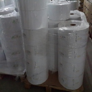 Factory price adhesive sticker type label paper jumbo roll