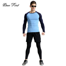 Men Sport Track Suits Long Sleeve Slim Fit Comfortable Running Suit