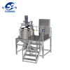 steam heating ointment vacuum emulsification blender machine lotion mixing machine