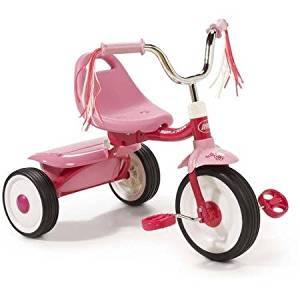 Controlled Turning Radius, Flyer Ready-To-Ride Folding Tricycle, Pink