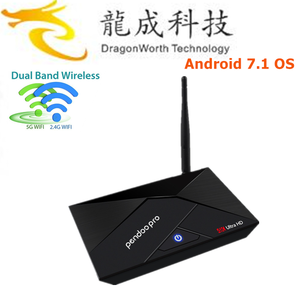 New product Pendoo pro RK3328 2g 16g tv box 4 CPU(1.5GHZ) 4K*2KH.265 with great pri Android 7.1 vedio player