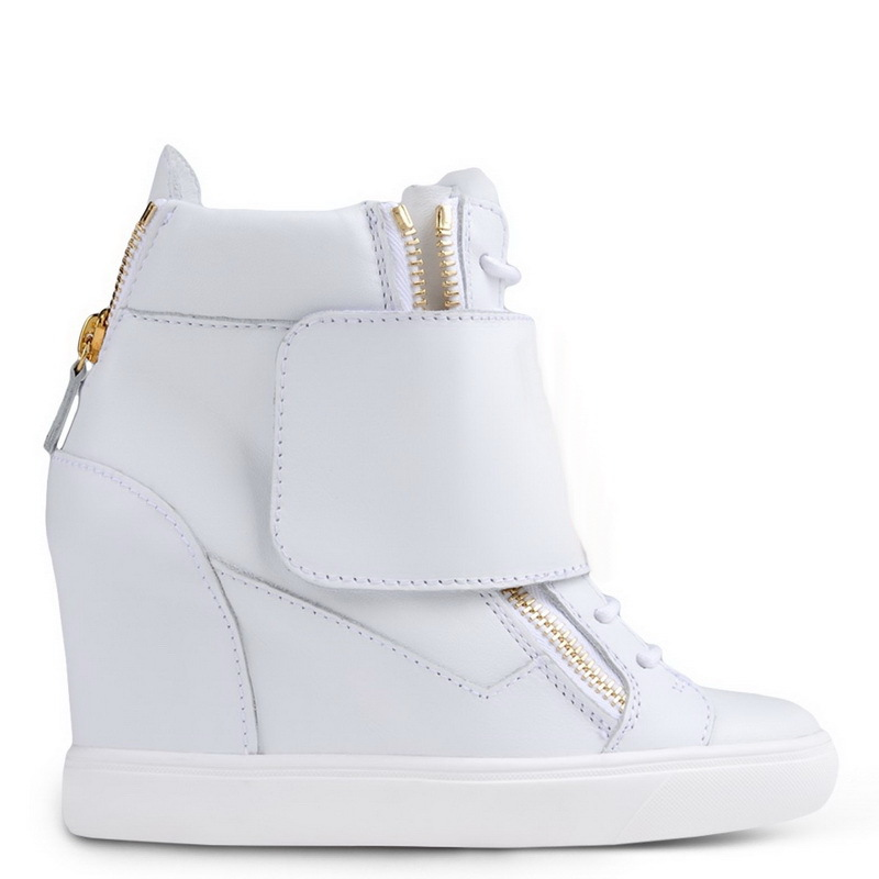 6c2489328d1 Buy white Large Velcro high top Gz wedge sneakers women Side zip wedges  Casual Sports shoes Genuine Leather in Cheap Price on m.alibaba.com