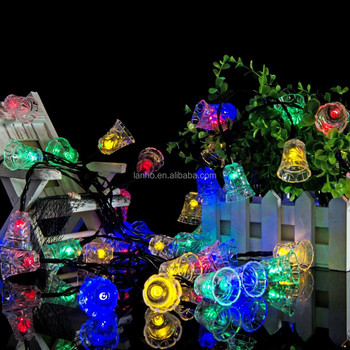 garland led christmas 2016 bell solar fairy string lights solar outside christmas lights outdoor for christmas