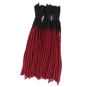Faux Locs Crochet Hair Extensions Dreadlocks two Colored Ombre Nina Soft Dread Twist Braids Synthetic Braiding Hair