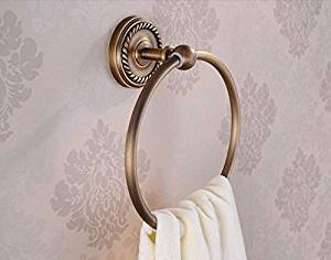 Towel Ring Wall Mount Holder Solid Br Construction Antique Bronze Finish