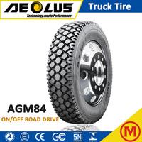 AEOLUS Windpower AGM84 11 R22.5 11 R24.5 TBR Tubeless BUS Tyre All steel Logging Truck Tire