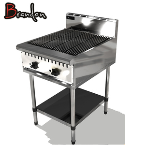 CE Matching Cooking Equipment Stand 2 Gas Burners BBQ Barbecue Grill Machine