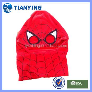 Fleece Hooded Scarf Knitting Pattern Spider Man Buy Fleece Hooded
