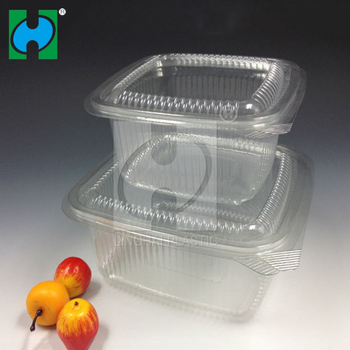 Disposable salad container with lids for fruit salad container for lunch to go