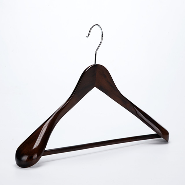 Inspring luxury Wooden Extra-Wide Shoulder Suit Hangers, Wooden Coat Hangers Pant Hangers, Beautiful Mahogany Finish