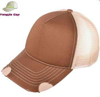 1c1784e8 Distressed Vintage Retro Cotton Twill Trucker Cap Mens Mesh Caps Brim  Baseball Hat
