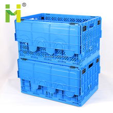Stackable vented plastic crate