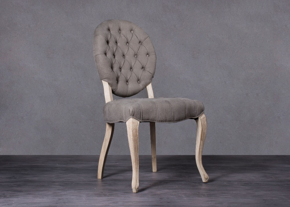 French Style Louis Oval Back Luxury Solid Wood Dining Chair ...