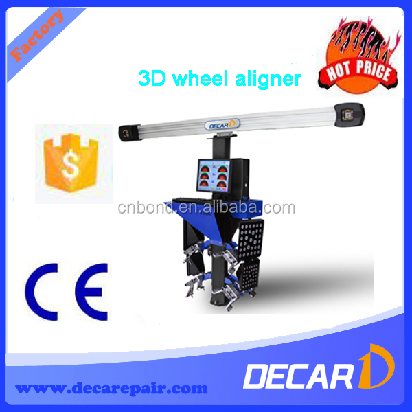 4 wheel laser alignment compared with 3D wheel aligner
