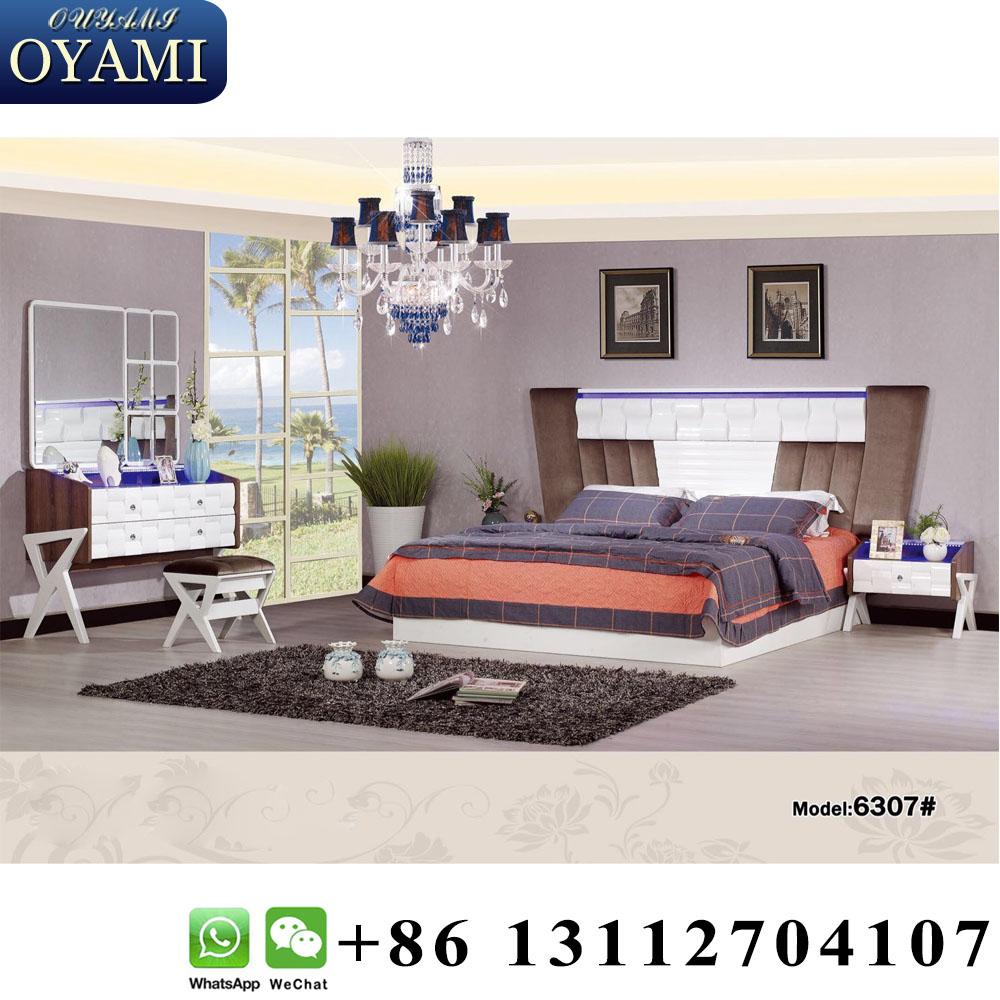 2018 colors lighting dubai egypt full size modern bedroom beds chest of drawer