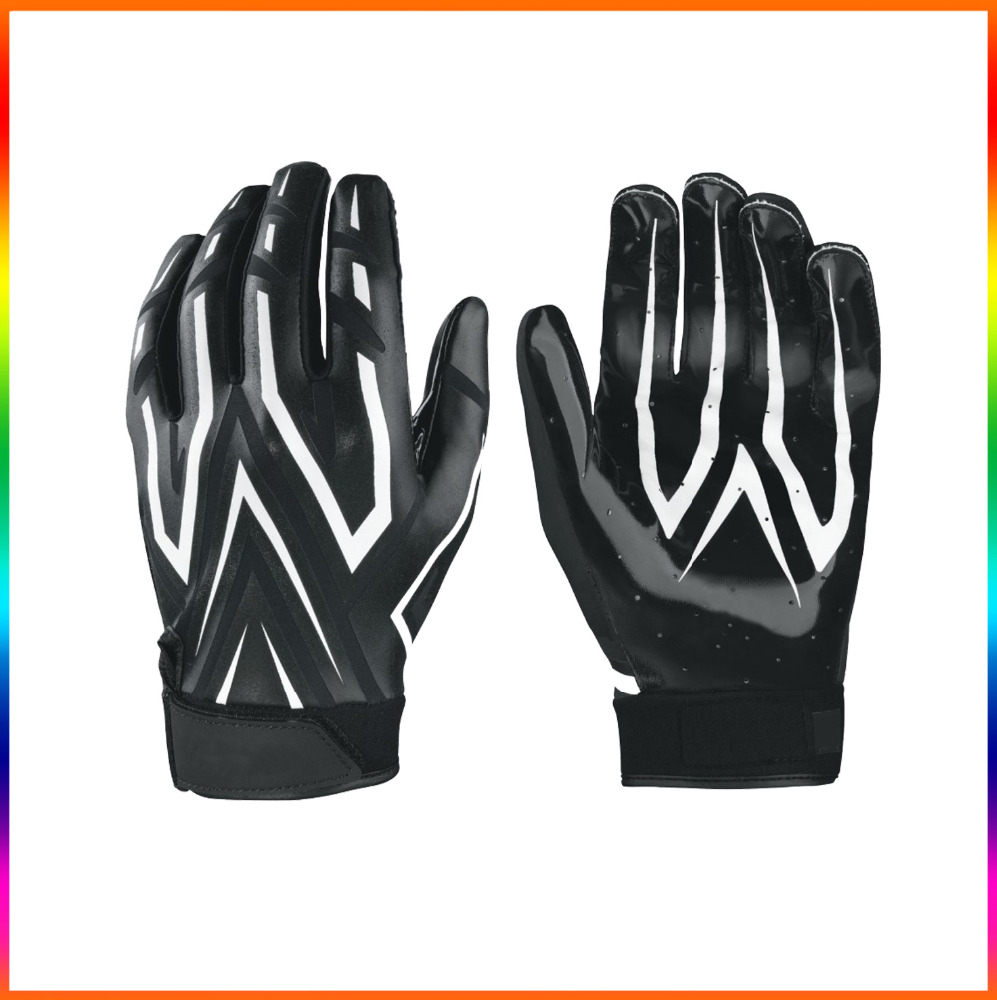 2017 Whole sale custom rugby gloves / Rugby gloves silicone/ New american football gloves receiver