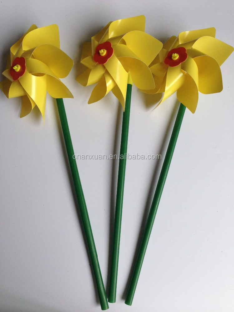 manufacture factory supply Sunflower pvc windmill