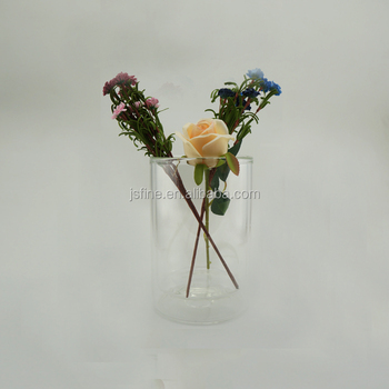 Clear Double Wall Glass Vase Buy Glass Vasedouble Wall Glass Vase