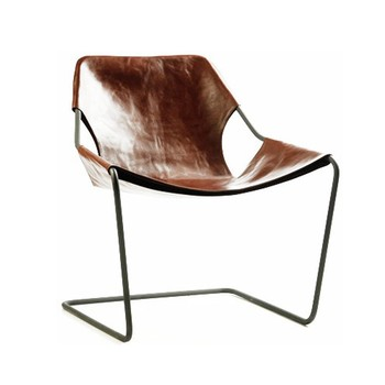 High Quality Metal/Leather Furniture Living Room Canvas Chair/Outdoor Furniture Relaxing  Canvas Metal Chair
