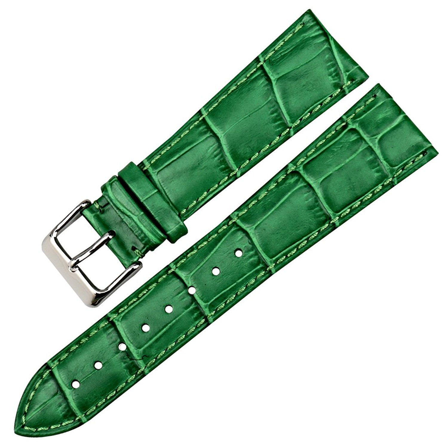 d9813872e8f Get Quotations · MAIKES Watch Band Genuine Leather Green for Gucci Women  Watchbands 16 18 20 22mm