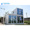 Modern living container house prefabricated low cost prefab luxury container house