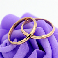 Yiwu Aceon classic stainless steel engagement wedding bands promise anniversary rings for couples men and women