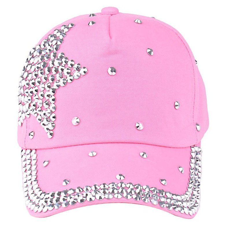Womail New Fashion Baby Boys Girls Baseball Cap Rhinestone Star Shaped Snapback Hat