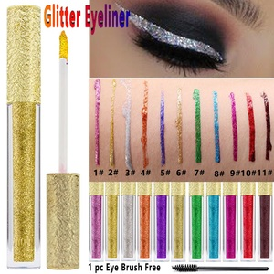 2 in 1 eyeshadow eyeliner oem private label makeup waterproof liquid glitter eyeliner