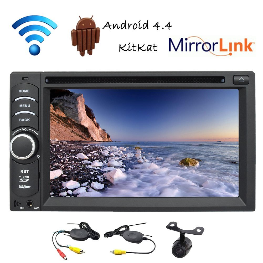 Hot sale 7 inch double 2 din car stereo gps video player capacitive touch screen Android 4.4 kitkat quad core cpu+1G ram+16G rom universal car stereo in dash car headunit bluetooth gps navigation