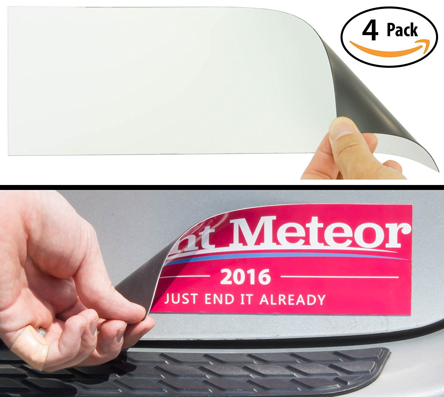 Get quotations · cut to size bumper sticker magnetizer 4 pack turn any decal into a