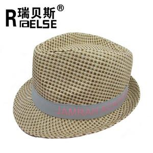 ec9c313cf3450 panama paper straw fedora hat custom logo band handmade hat