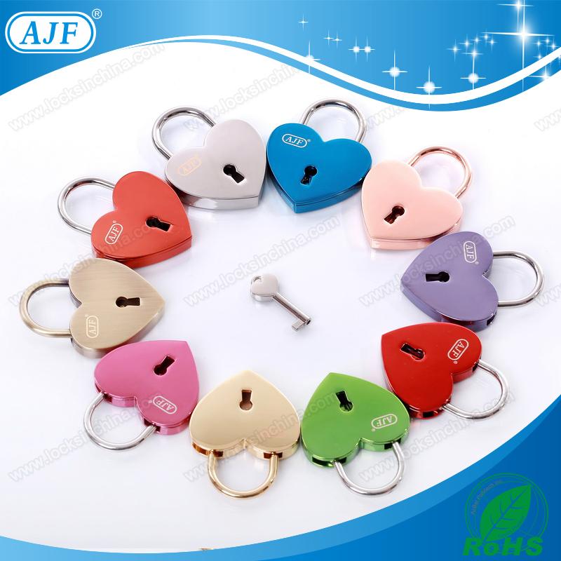 NINGBO AJF Promotional shiny blue metal lock colorful cute padlock