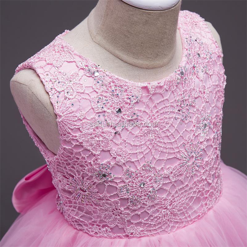 Boda del Florista de la princesa vestido de encaje y bordado sin ...