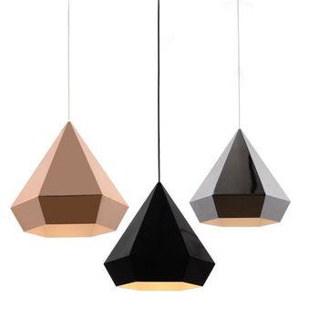 Diseño Moderno Colgante Luces Comedor Suspensión Luminaria Oro Plata ...