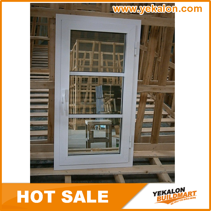 Yekalon 2017 Aluminum Casement Window Price Philippines Open Inside Casement Window with Net From China Manufacturer