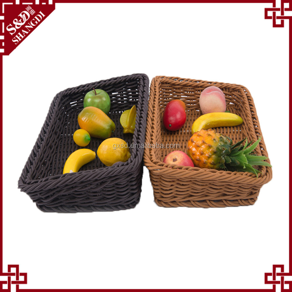 PP material multifunctional fruit vegetable plastic basket for supermarket