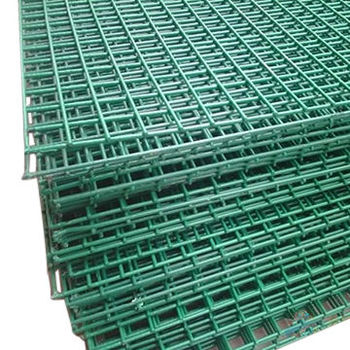 Green Vinyl Coated Welded Wire Mesh Fence Buy Pvc Coated