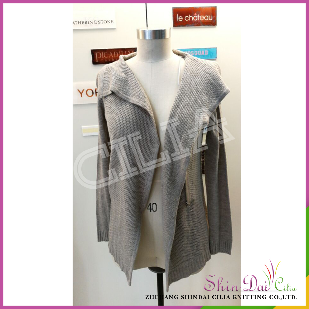 Custom wholesale luxury ladies autumn winter western style knitted sweater cardigan