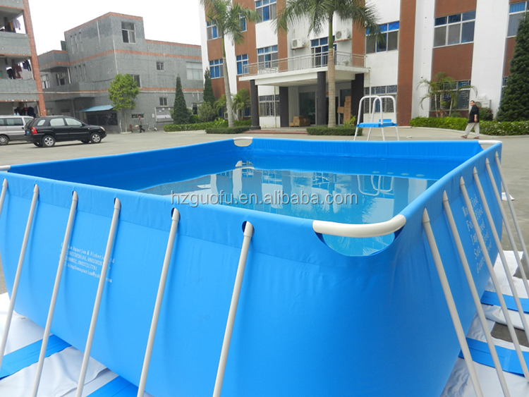 Custom Commercial Collapsible PVC Plastic Metal Frame Swimming Pool for Rental