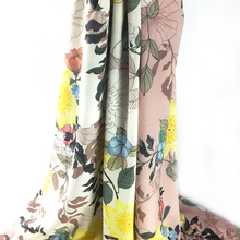 Factory price eco friendly polyester floral print 100% silk satin fabric