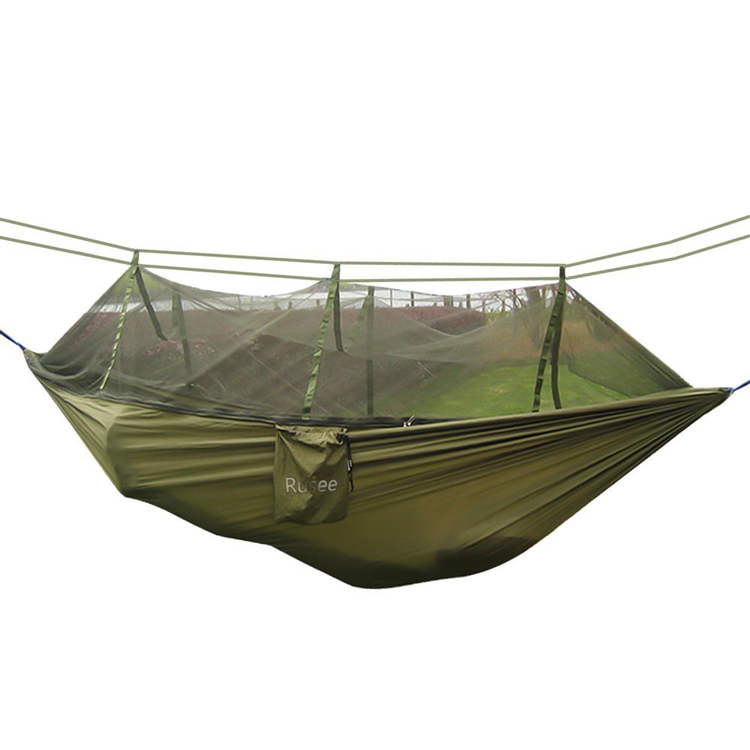 Custom Logo Military Double Portable Hammock With Mosquito Net