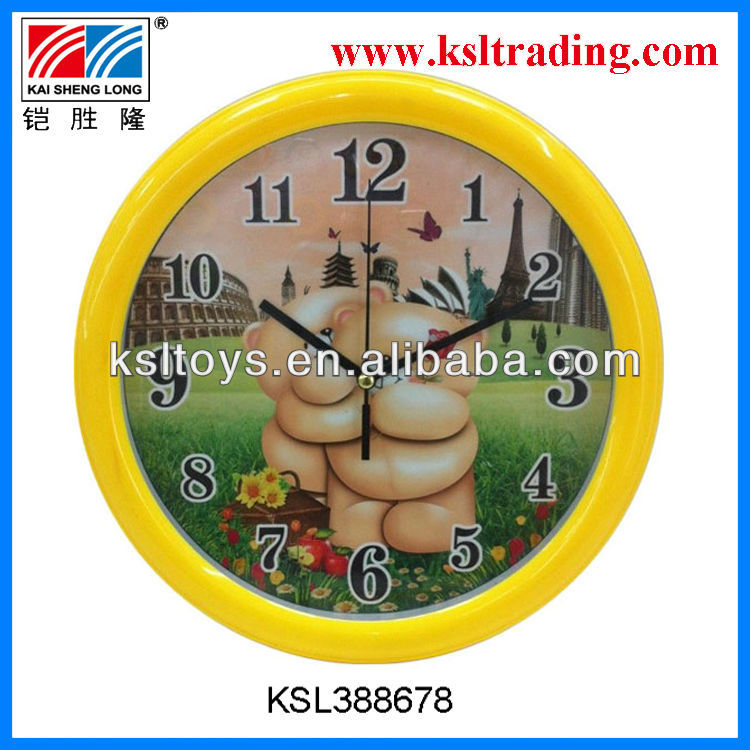 best sell beautiful clock toys children plastic wall clock toys