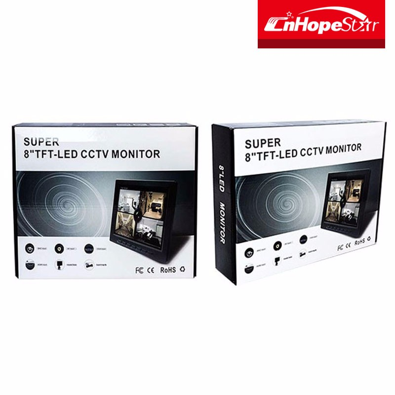 CCTV Monitor 8 inch plastic case lcd monitor with AV input