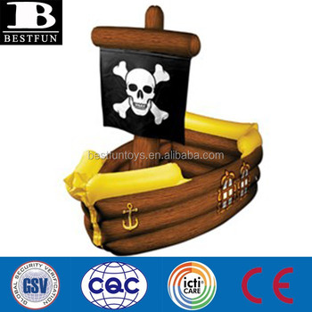 Pvc Inflatable Pirate Ship Cooler Vinyl Plastic Air Ship Beer ...