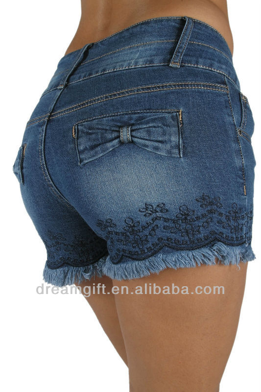 DH1149 - High Rise Colombian Style Stretch Denim, Sexy Shorts