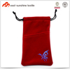 Hot selling microfiber mobile phone pouch for ladies