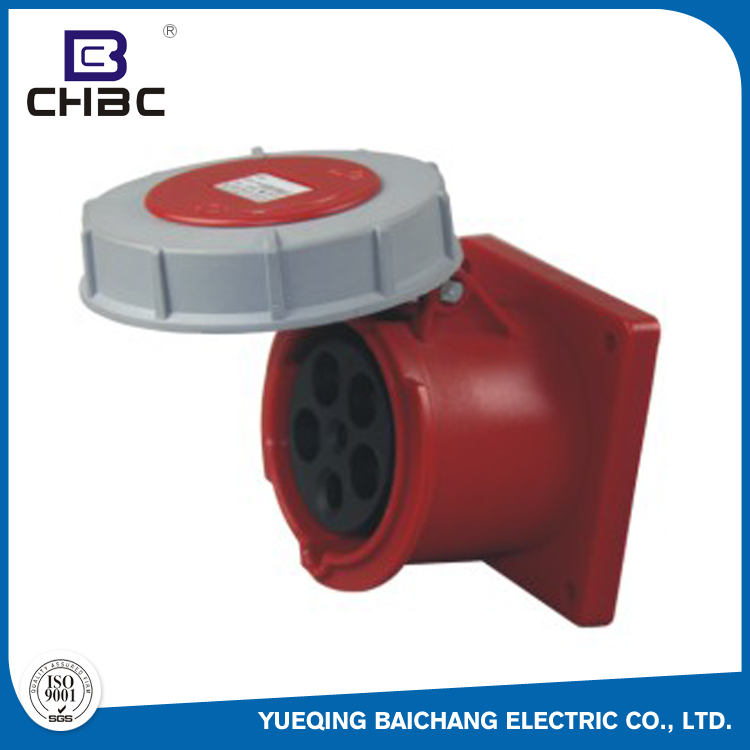 CHBC Wholesale High Quality Wall Mounted 63A Multi Pin Industrial Plug Sockets